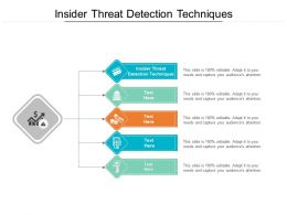 Insider Threat Detection Techniques Ppt Powerpoint Presentation Show Deck Cpb