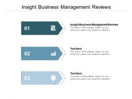 Insight Business Management Reviews Ppt Powerpoint Presentation Summary Cpb