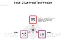 Insight Driven Digital Transformation Ppt Powerpoint Presentation Ideas Professional Cpb
