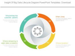 Insight Of Big Data Lifecycle Diagram Powerpoint Templates Download