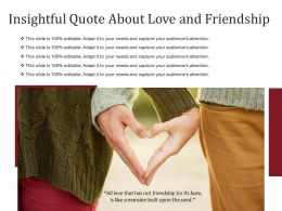 Insightful Quote About Love And Friendship
