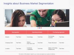 Insights About Business Market Segmentation Business Handbook Ppt Powerpoint Presentation Icon