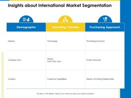 Insights About International Market Segmentation Business Manual Ppt Ideas