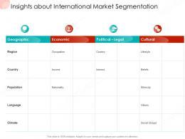 Insights About International Market Segmentation Business Procedure Manual Ppt File Designs