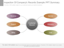 Inspection Of Companys Records Example Ppt Summary