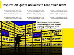 Inspiration Quote On Sales To Empower Team