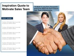 Inspiration Quote To Motivate Sales Team