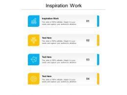 Inspiration Work Ppt Powerpoint Presentation Slides Ideas Cpb