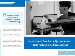 Inspirational Feedback Quote About Team Performance Improvement