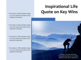 Inspirational Life Quote On Key Wins