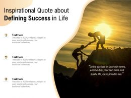Inspirational Quote About Defining Success In Life