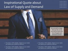 Inspirational Quote About Law Of Supply And Demand