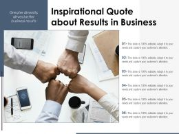 Inspirational Quote About Results In Business