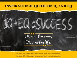 Inspirational Quote On IQ And EQ