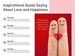 Inspirational Quote Saying About Love And Happiness