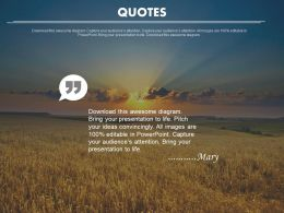Inspirational Quotes For Business Peoples Powerpoint Slides