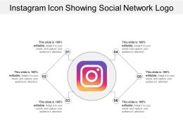 Instagram Icon Showing Social Network Logo
