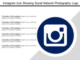 Instagram Icon Showing Social Network Photography Logo
