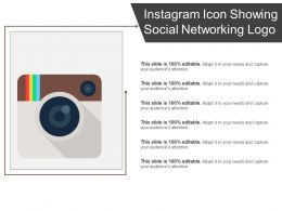 Instagram Icon Showing Social Networking Logo