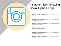 Instagram Icon Showing Social Symbol Logo