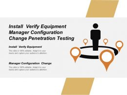 Install Verify Equipment Manager Configuration Change Penetration Testing