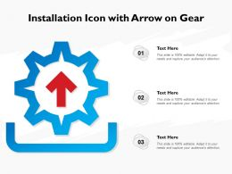 Installation Icon With Arrow On Gear