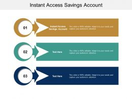 Instant Access Savings Account Ppt Powerpoint Presentation Outline Visual Aids Cpb