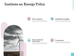 Institute An Energy Policy Ppt Powerpoint Presentation Gallery Introduction