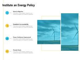 Institute An Energy Policy Promote Goals Ppt Powerpoint Presentation Inspiration Slides