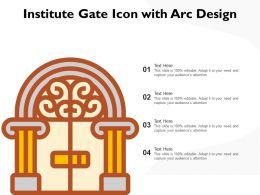 Institute Gate Icon With Arc Design