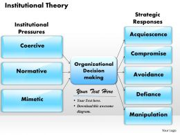 Institutional Theory Powerpoint Presentation Slide Template
