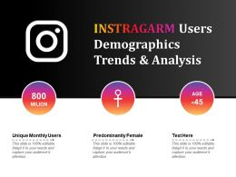 Instragarm Users Demographics Trends And Analysis
