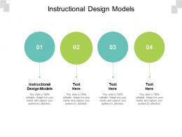 Instructional Design Models Ppt Powerpoint Presentation Slides Portrait Cpb