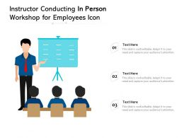 Instructor Conducting In Person Workshop For Employees Icon