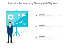 Instructor Demonstrating Planning With Flag Icon