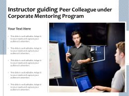 Instructor Guiding Peer Colleague Under Corporate Mentoring Program