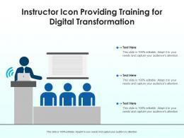 Instructor Icon Providing Training For Digital Transformation