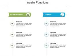 Insulin Functions Ppt Powerpoint Presentation Infographics Slides Cpb