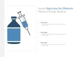Insulin Injection For Diabetic Patient In Family Medicine