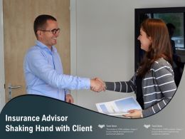 Insurance Advisor Shaking Hand With Client