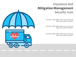 Insurance And Mitigation Management Security Icon