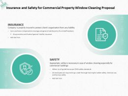 Insurance And Safety For Commercial Property Window Cleaning Proposal Ppt Slides