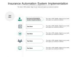 Insurance Automation System Implementation Ppt Powerpoint Presentation Layouts Show Cpb
