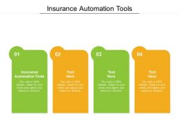 Insurance Automation Tools Ppt Powerpoint Presentation Infographics Design Ideas Cpb