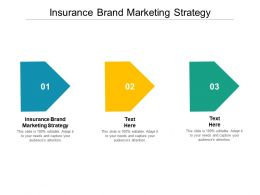 Insurance Brand Marketing Strategy Ppt Powerpoint Presentation Infographic Template Cpb
