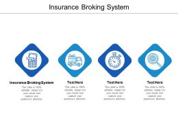 Insurance Broking System Ppt Powerpoint Presentation Model Gridlines Cpb