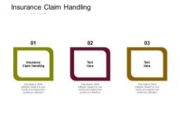 Insurance Claim Handling Ppt Powerpoint Presentation Themes Cpb