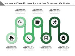 Insurance Claim Process Approach Document Verification Approved Rejected