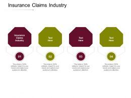 Insurance Claims Industry Ppt Powerpoint Presentation Model Graphics Design Cpb