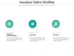 Insurance Claims Workflow Ppt Powerpoint Presentation Model Graphics Pictures Cpb